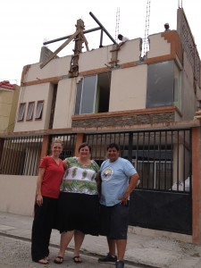 Members of Humanity Corps' board in front of FAHUM's Tutor Center in Guayaquil, Ecuador